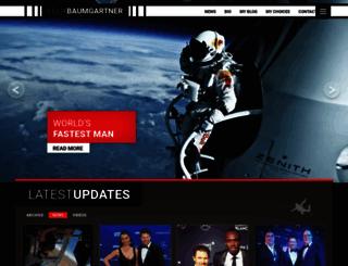 felixbaumgartner.com screenshot