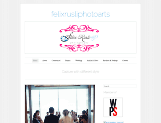 felixrusliphotoarts.wordpress.com screenshot