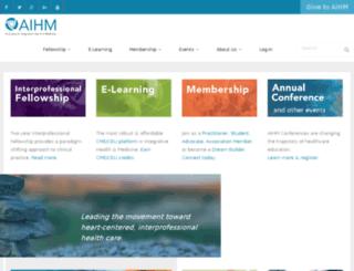 fellowship.aihm.org screenshot