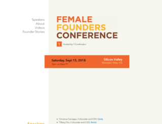 femalefoundersconference.org screenshot