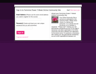 femininepowerglobalcommunity.com screenshot