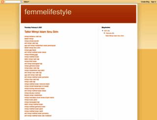 femmelifestyle.blogspot.fr screenshot