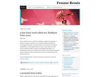 femmeremix.wordpress.com screenshot