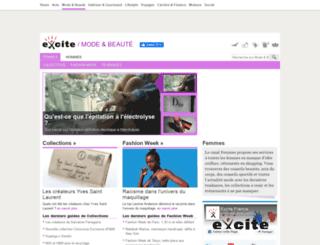 femmes.excite.fr screenshot