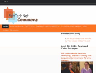 femtechnet.newschool.edu screenshot