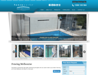 fenceworks.com.au screenshot