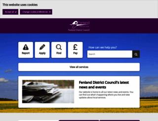 fenland.gov.uk screenshot