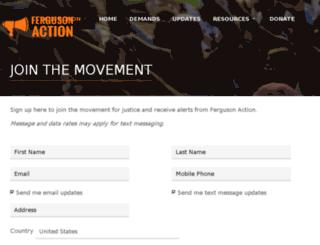 fergusonoctober.nationbuilder.com screenshot