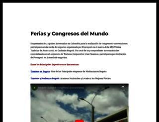 feriasycongresosdelmundo.com screenshot