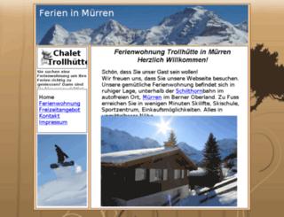 ferien-wohnung-muerren.ch screenshot