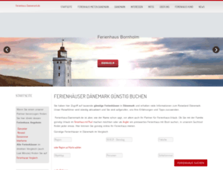 ferienhaus-daenemark.de screenshot