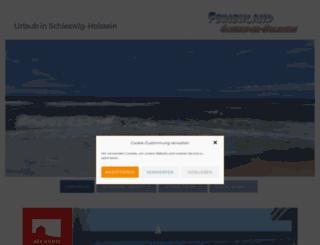 ferienland-schleswig-holstein.de screenshot