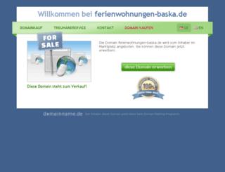 ferienwohnungen-baska.de screenshot