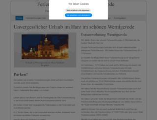 ferienwohnungharz.de screenshot