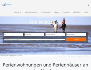 ferienwohnungnordsee24.de screenshot