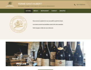 ferme-sainthubert.com screenshot