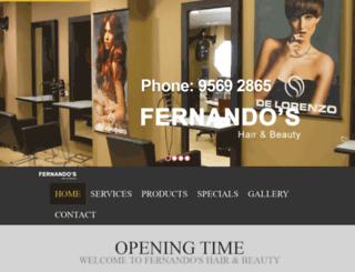 fernandoshair.com.au screenshot