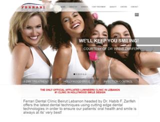 ferraridentalclinic.com.lb screenshot