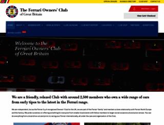ferrariownersclub.co.uk screenshot