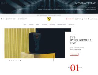 ferraristore.com screenshot
