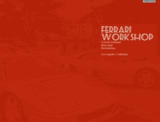 ferrariworkshop.com screenshot