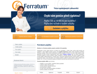 ferratum-ipujcka.cz screenshot