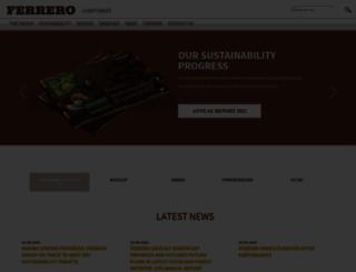 ferrero.com screenshot