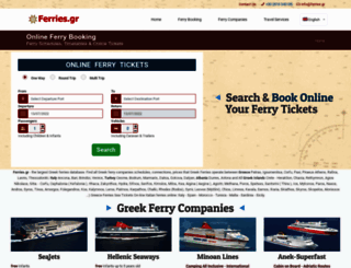 ferries.gr screenshot
