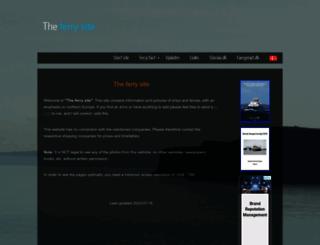 ferry-site.dk screenshot