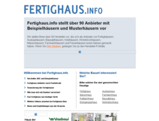 fertighaus.info screenshot