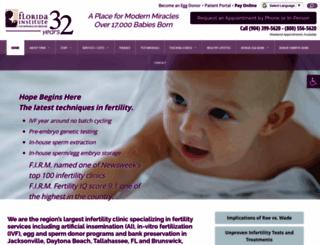 fertilityjacksonville.com screenshot