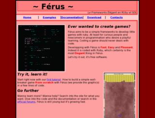 ferus.rubyforge.org screenshot