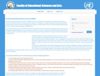 fesa-reg.unrwa.org screenshot