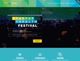 festival.startuphealth.com screenshot