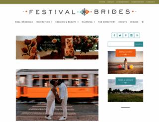 festivalbrides.co.uk screenshot