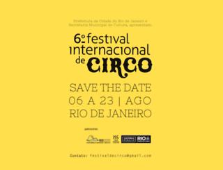 festivaldecirco.com.br screenshot