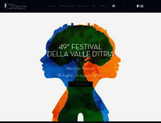 festivaldellavalleditria.it screenshot