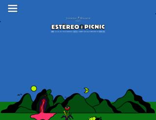 festivalestereopicnic.com screenshot