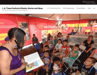 festivalofbooks2015.usc.edu screenshot