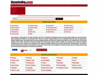 festivals.iloveindia.com screenshot
