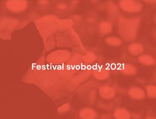 festivalsvobody.cz screenshot