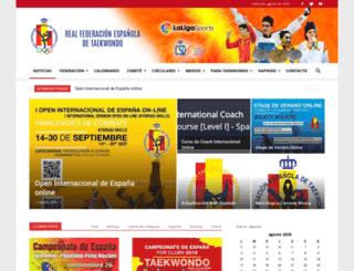 fetaekwondo.net screenshot