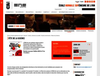 fetedelascience2014.ens-lyon.fr screenshot