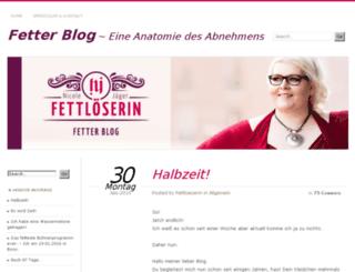 fetterblog.fettloeserin.de screenshot