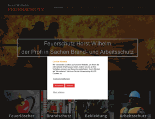 feuerschutz-wilhelm.de screenshot