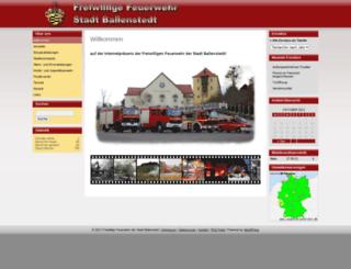 feuerwehr-ballenstedt.de screenshot