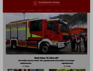 feuerwehr-fuessen.de screenshot
