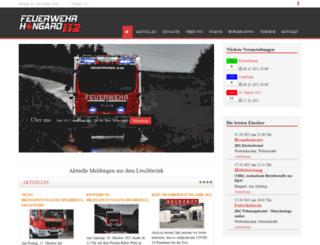 feuerwehr-hangard.de screenshot
