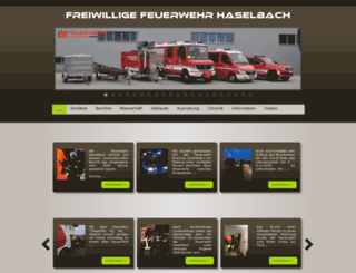 feuerwehr-haselbach.at screenshot