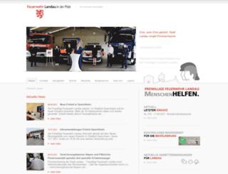 feuerwehr-landau.de screenshot